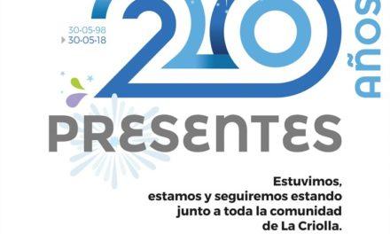 Filial La Criolla celebra sus 20 años