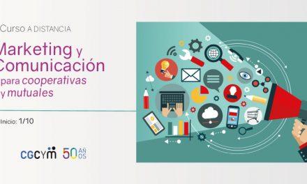El CGCyM lanza curso a distancia sobre Marketing y Comunicación para Cooperativas y Mutuales