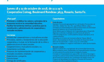 FECOOPDER convoca a una capacitación en Rosario