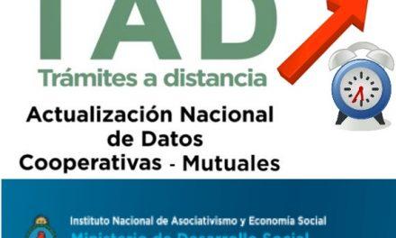 INAES abre una nueva etapa para finalizar la actualización de datos a través del TAD