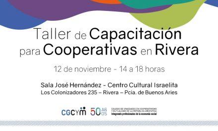 Se realizará un Taller de Capacitación para Cooperativas en Rivera