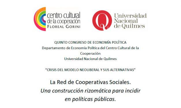 La Red de Cooperativas Sociales. Una construcción rizomática para incidir en políticas públicas