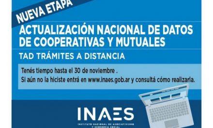 Se acerca la fecha: la actualización de datos de INAES vence el 30 de noviembre