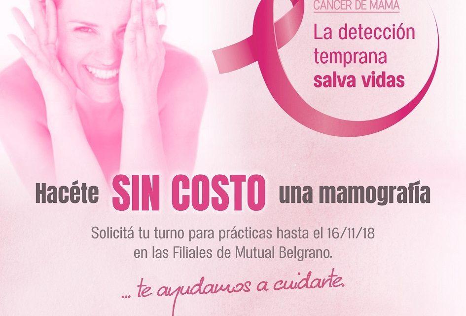 Últimos cupos de la Segunda Campaña de Prevención de cáncer de mama