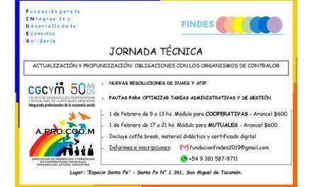 Se realizará una Jornada de actualización para cooperativas y mutuales en San Miguel de Tucumán