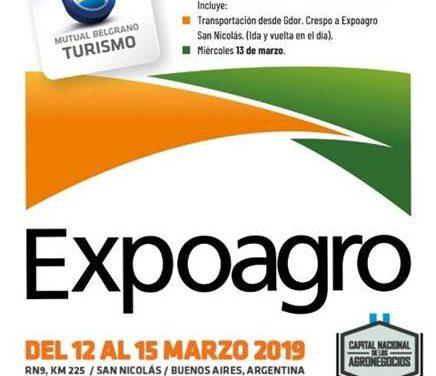 Mutual Belgrano se suma a Expoagro 2019