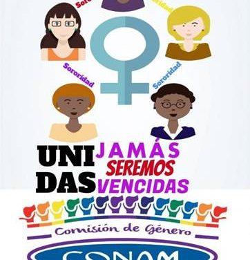 Fuerte apoyo de la CONAM a las luchas del feminismo en todo el mundo