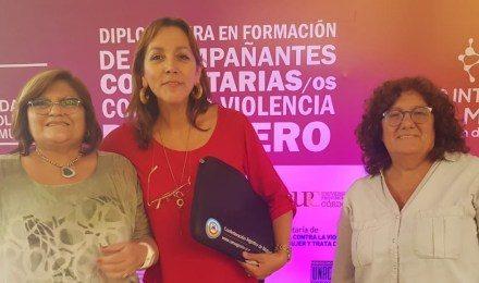 Mujeres mutualistas se diplomaron como acompañantes comunitarias contra la violencia de género
