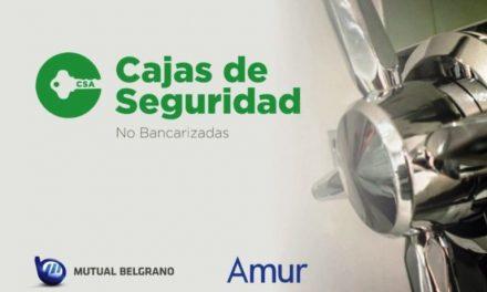 Mutual Belgrano y Amur abren cajas de seguridad para sus asociados