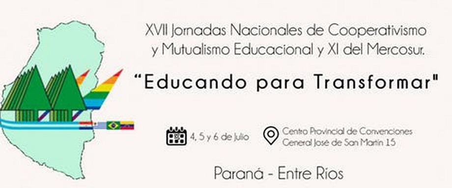 Entre Ríos es nuevamente sede de las Jornadas Nacionales Educando para Transformar