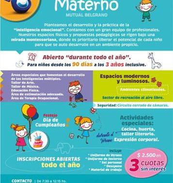 Santa Fe: Mutual Belgrano abrió su inscripción al Materno